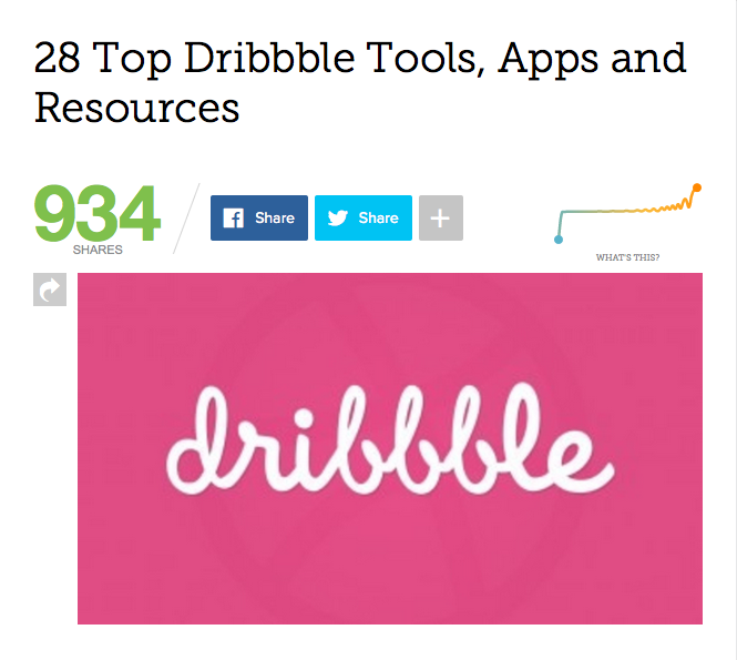 Top Social Media Network for Content Marketers: Dribbble