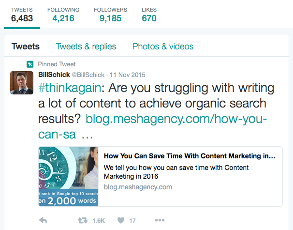 Top Social Media Networks for Content Marketing: Twitter