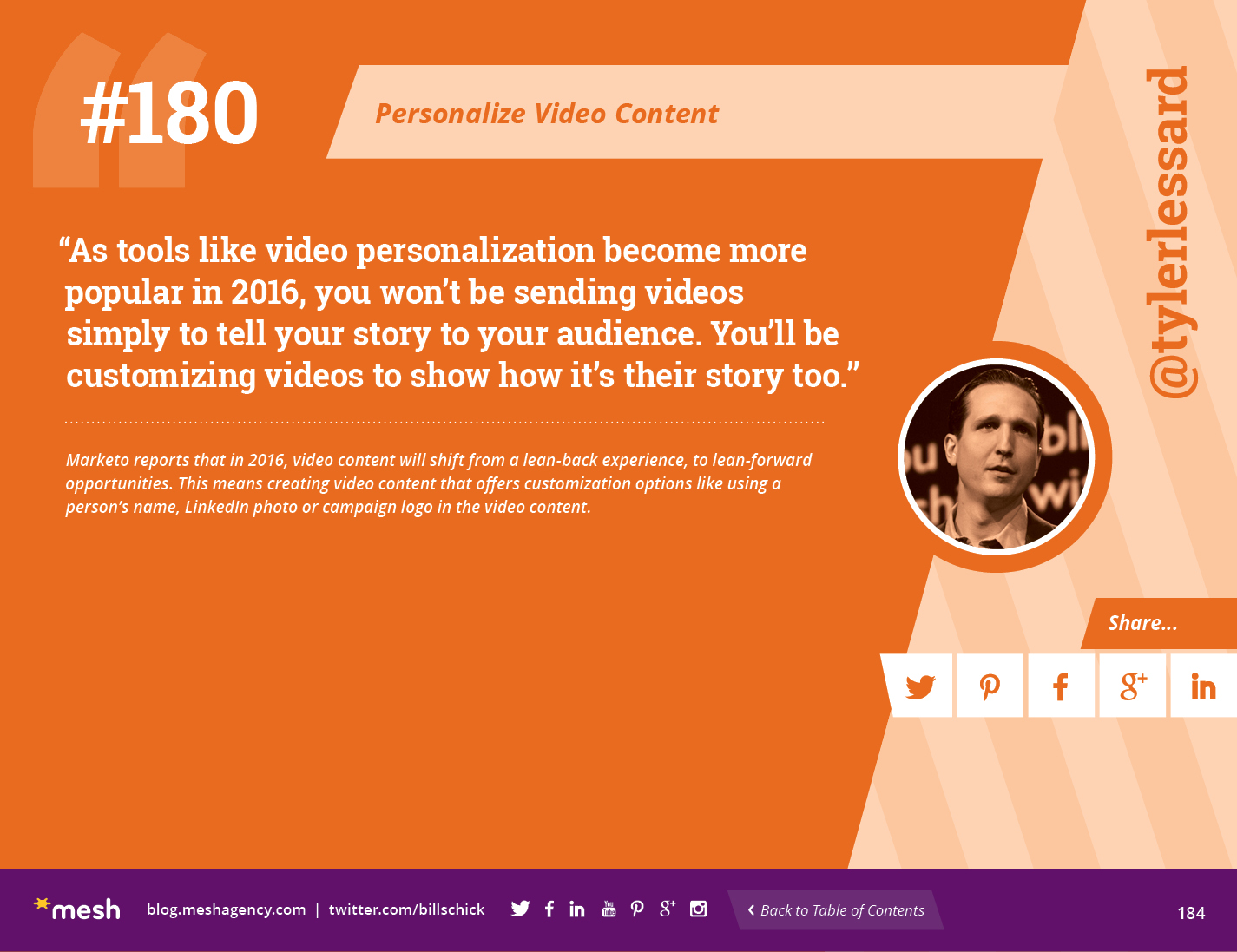 #180: Personalize Video Content via @meshagency #365EmailTips