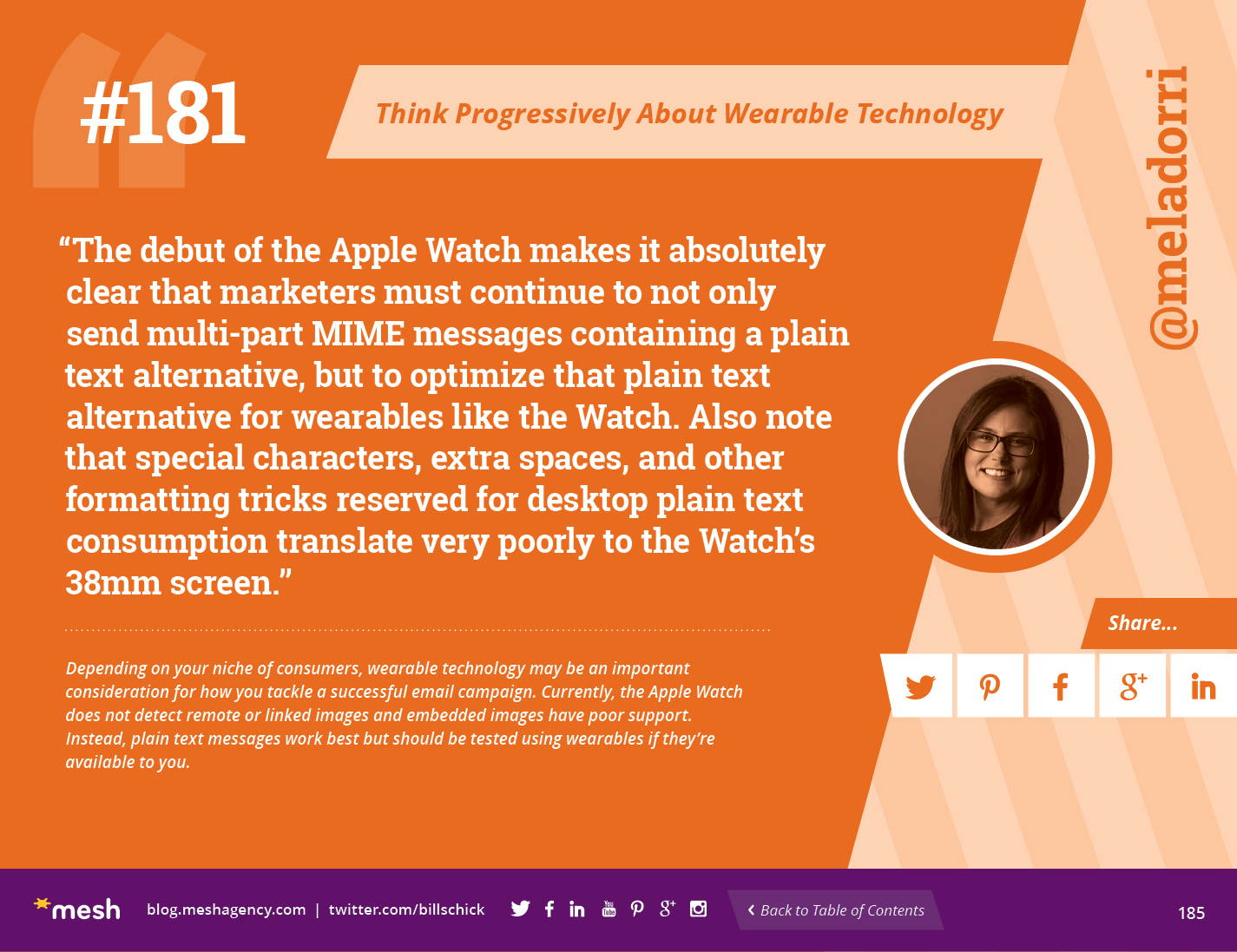 #181: Think Progressively About Wearable Technology via @meshagency #365EmailTips