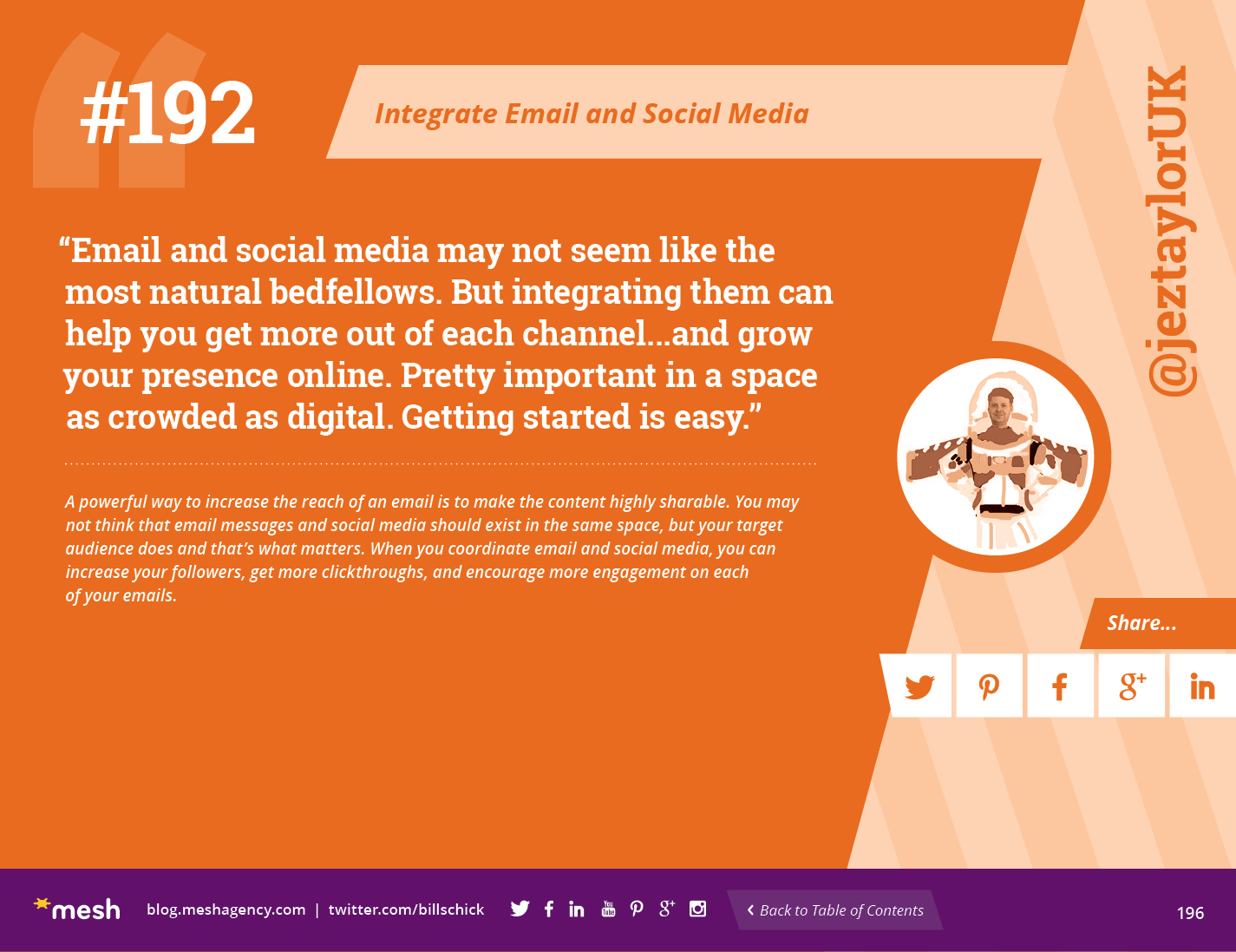 #192: Integrate Email and Social Media via @meshagency #365EmailTips