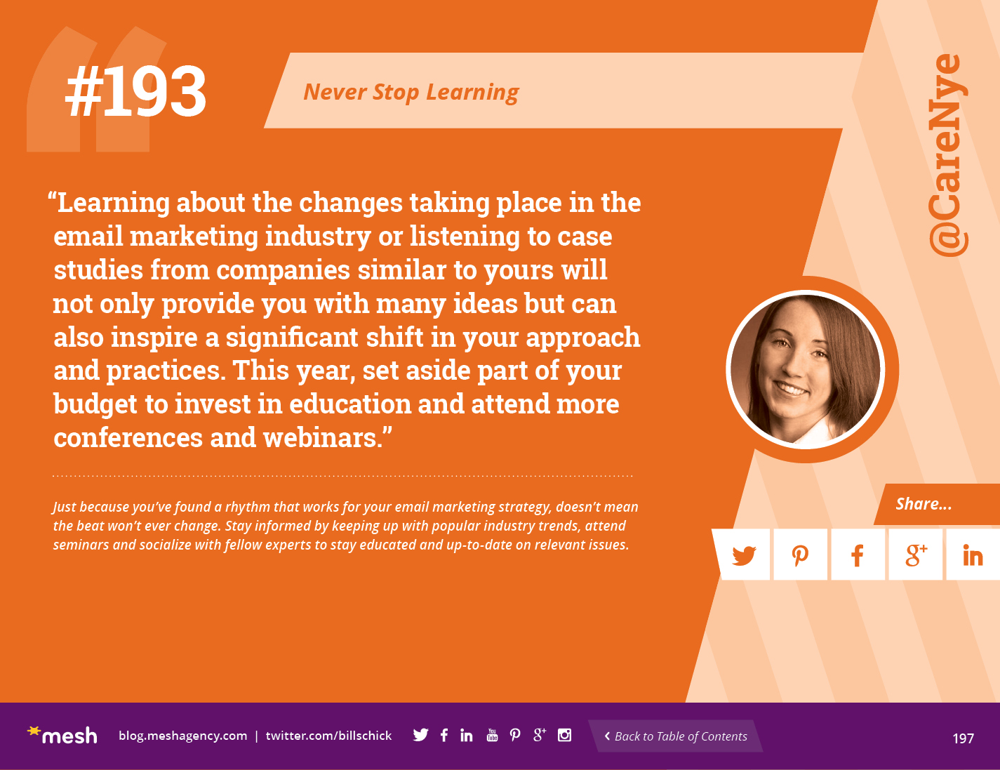 #193: Never Stop Learning via @meshagency #365EmailTips