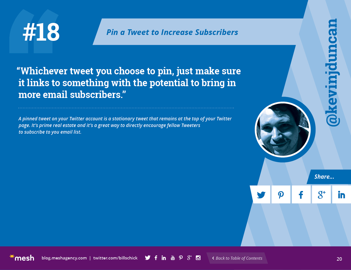 #18: Pin a Tweet to Increase Subscribers via @meshagency #365EmailTips