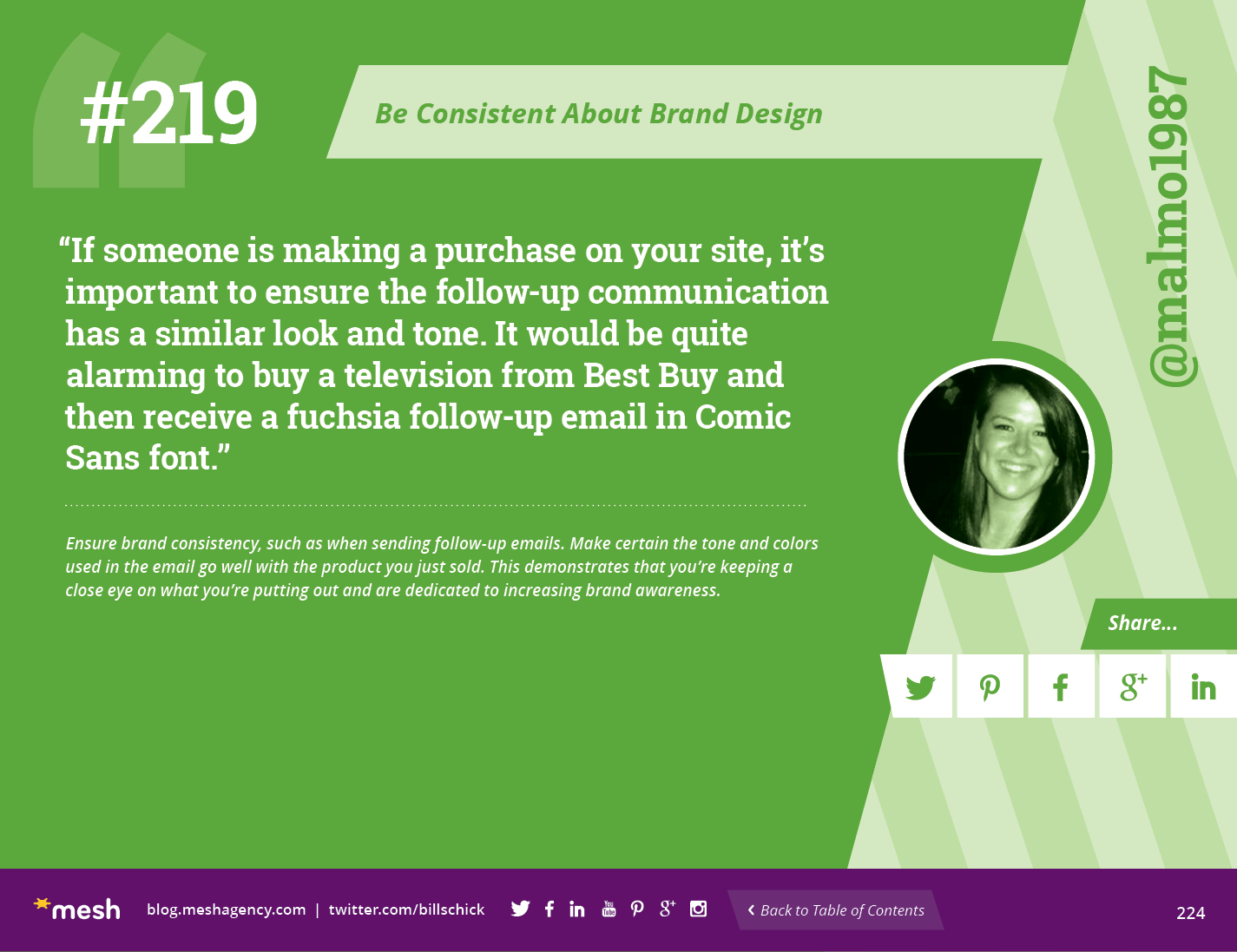 #219: Be Consistent About Brand Design via @meshagency #365EmailTips