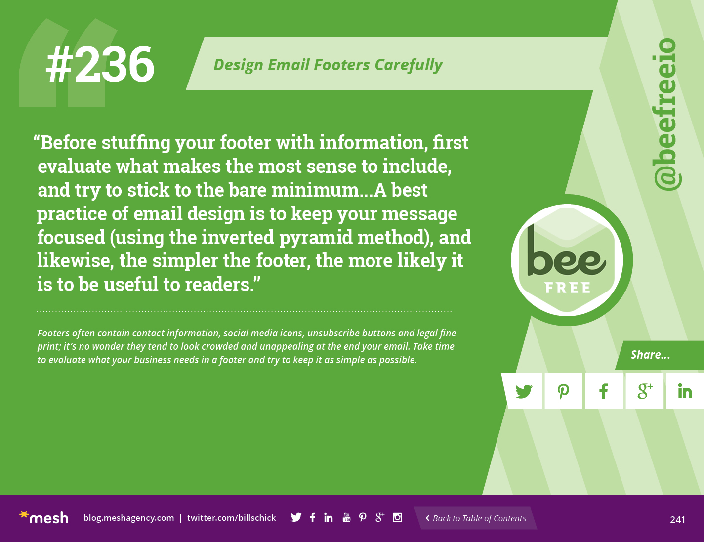 email footers