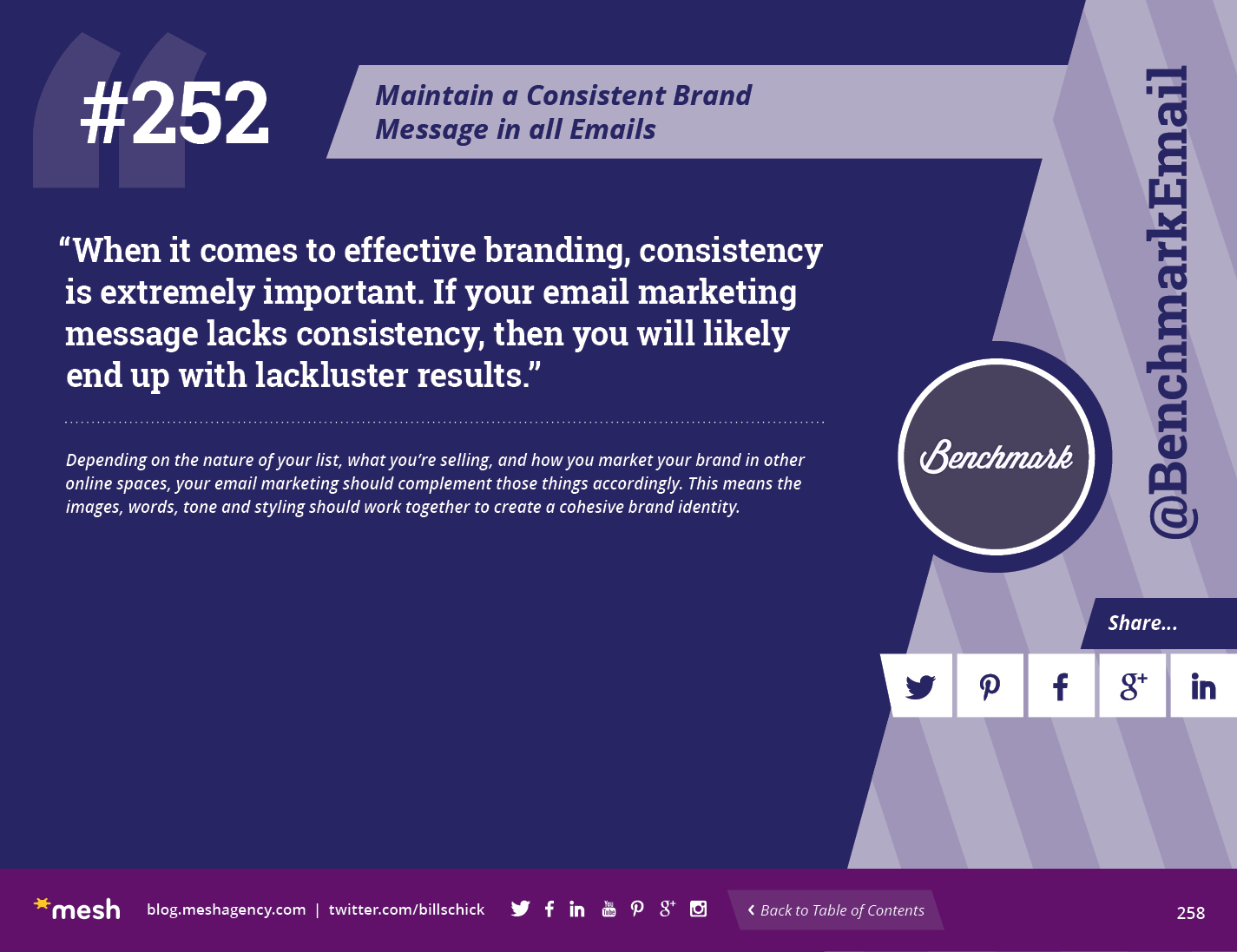 Maintain a Consistent Brand Message in all Emails via @meshagency #365EmailTips
