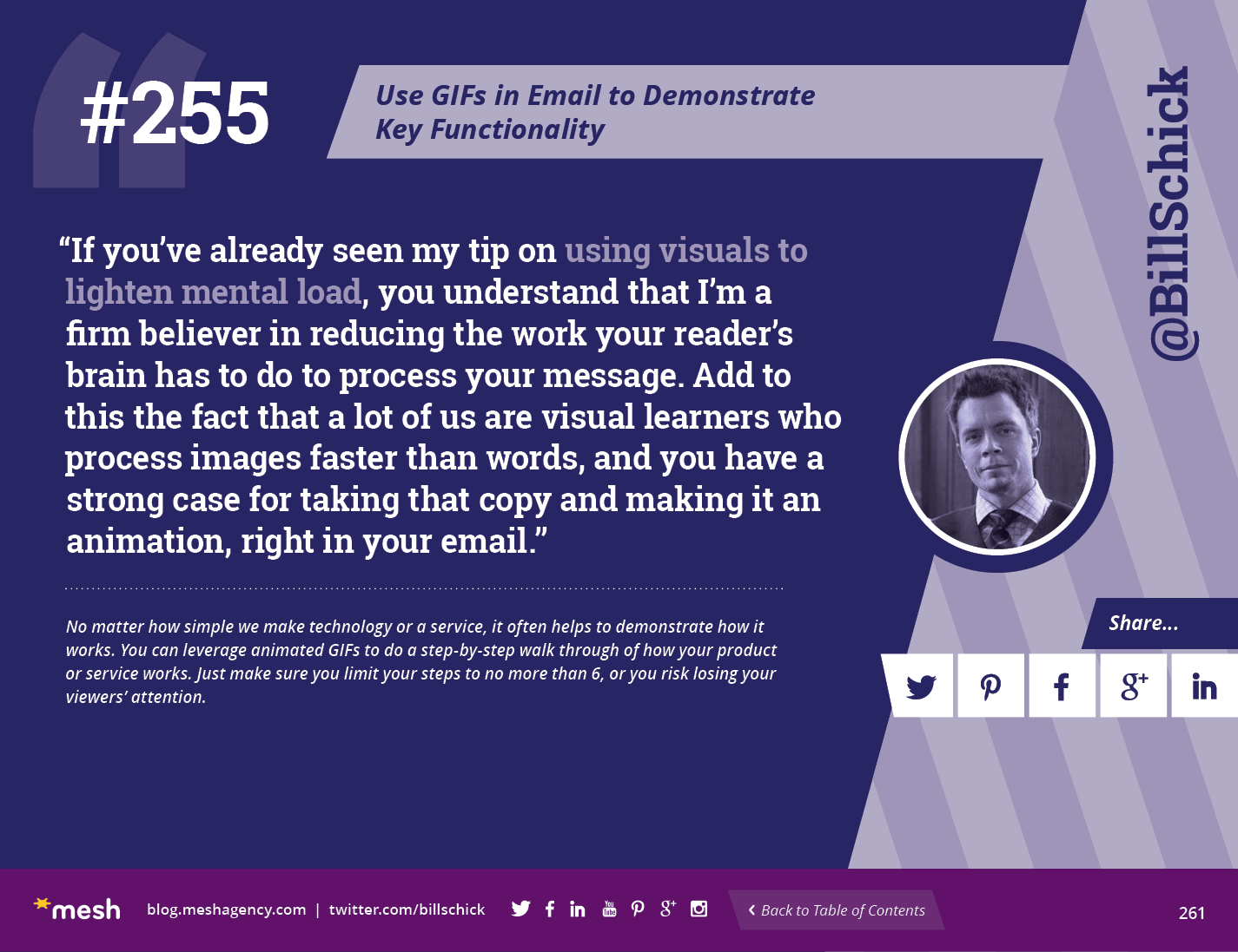 #255: Use GIFs in Email to Demonstrate Key Functionality via @meshagency #365EmailTips