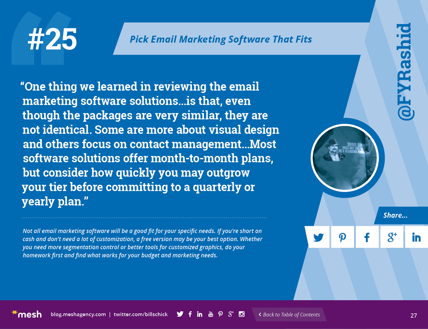 #25: Pick Email Marketing Software That Fits via @meshagency #365EmailTips