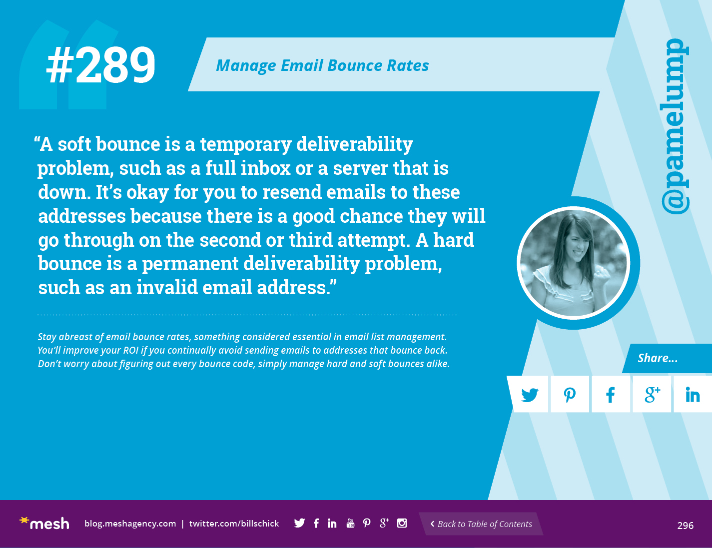 #289: Manage Email Bounce Rates via @meshagency #365EmailTips
