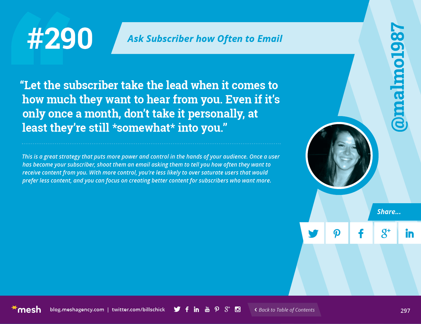 #290: Ask Subscriber how Often to Email via @meshagency #365EmailTips