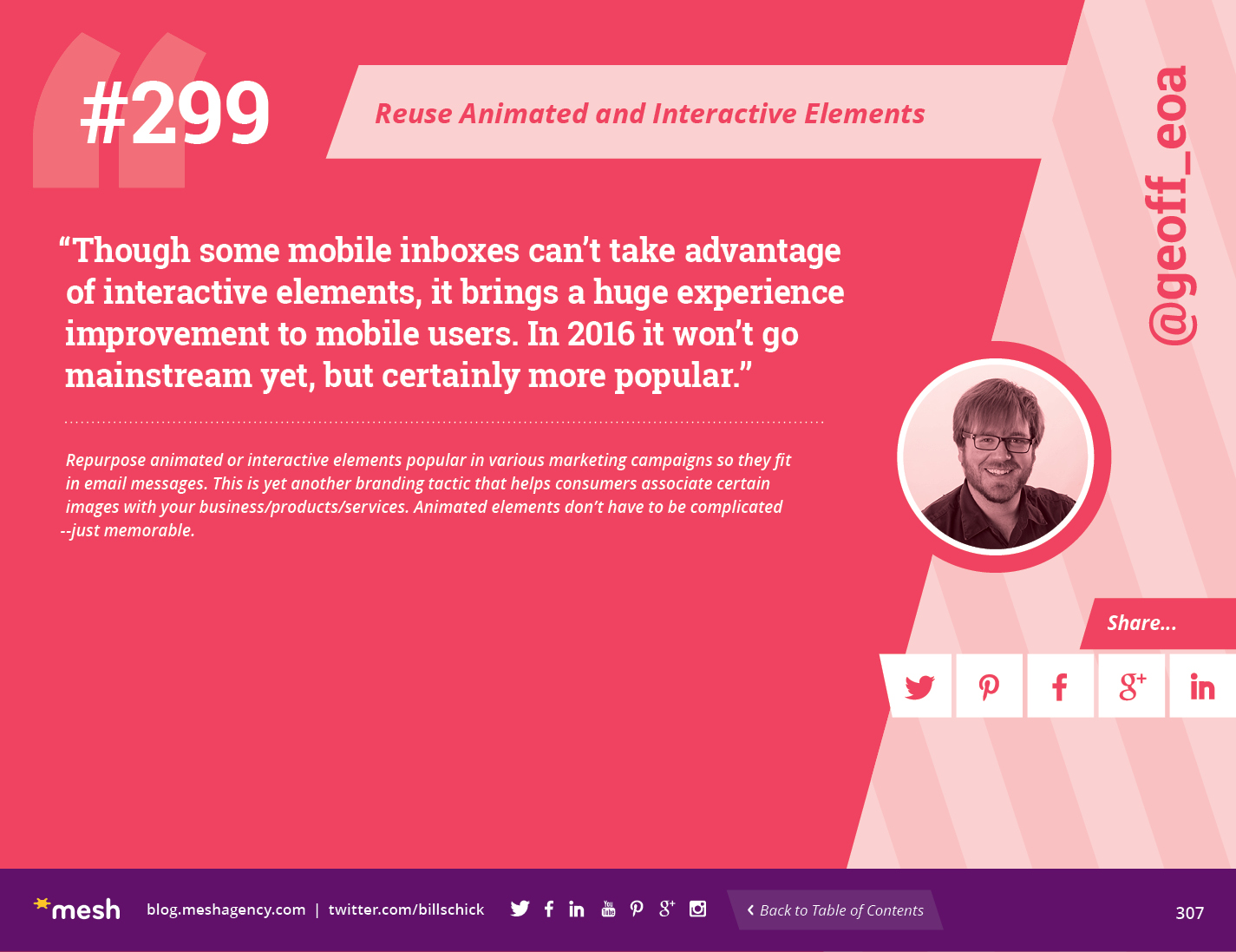 #299: Reuse Animated and Interactive Elements via @meshagency #365EmailTips