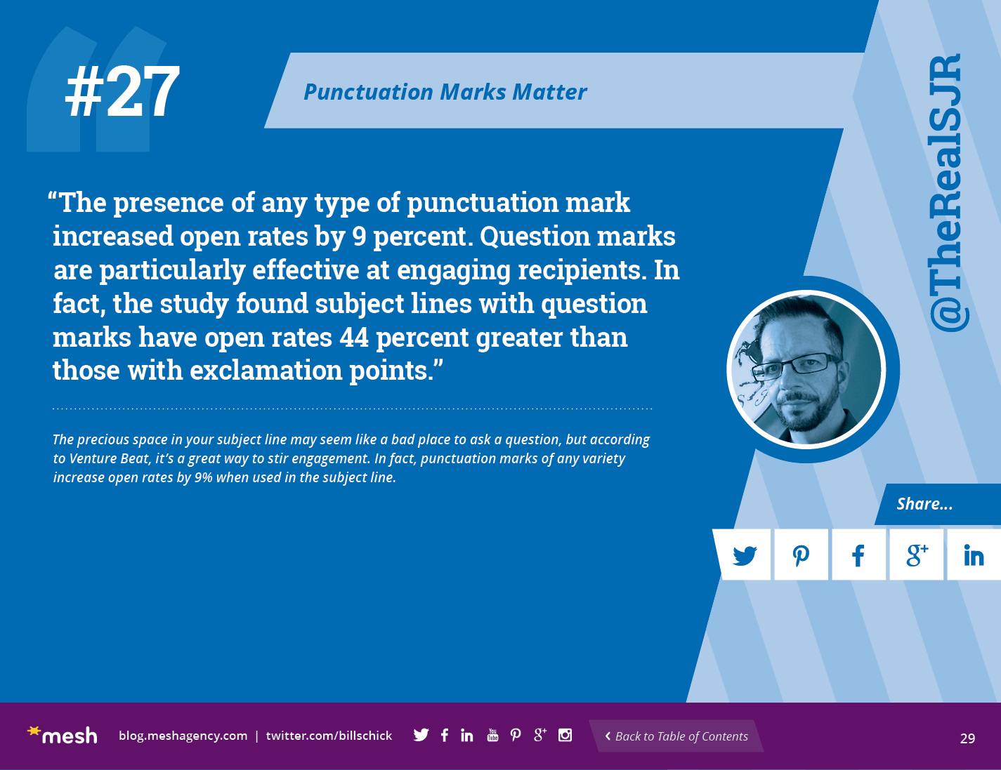 #27: Punctuation Marks Matter via @meshagency #365EmailTips