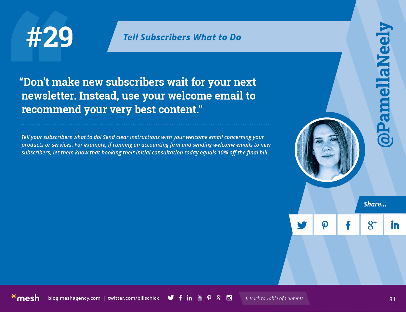 #29: Tell Subscribers What to Do via @meshagency #365EmailTips