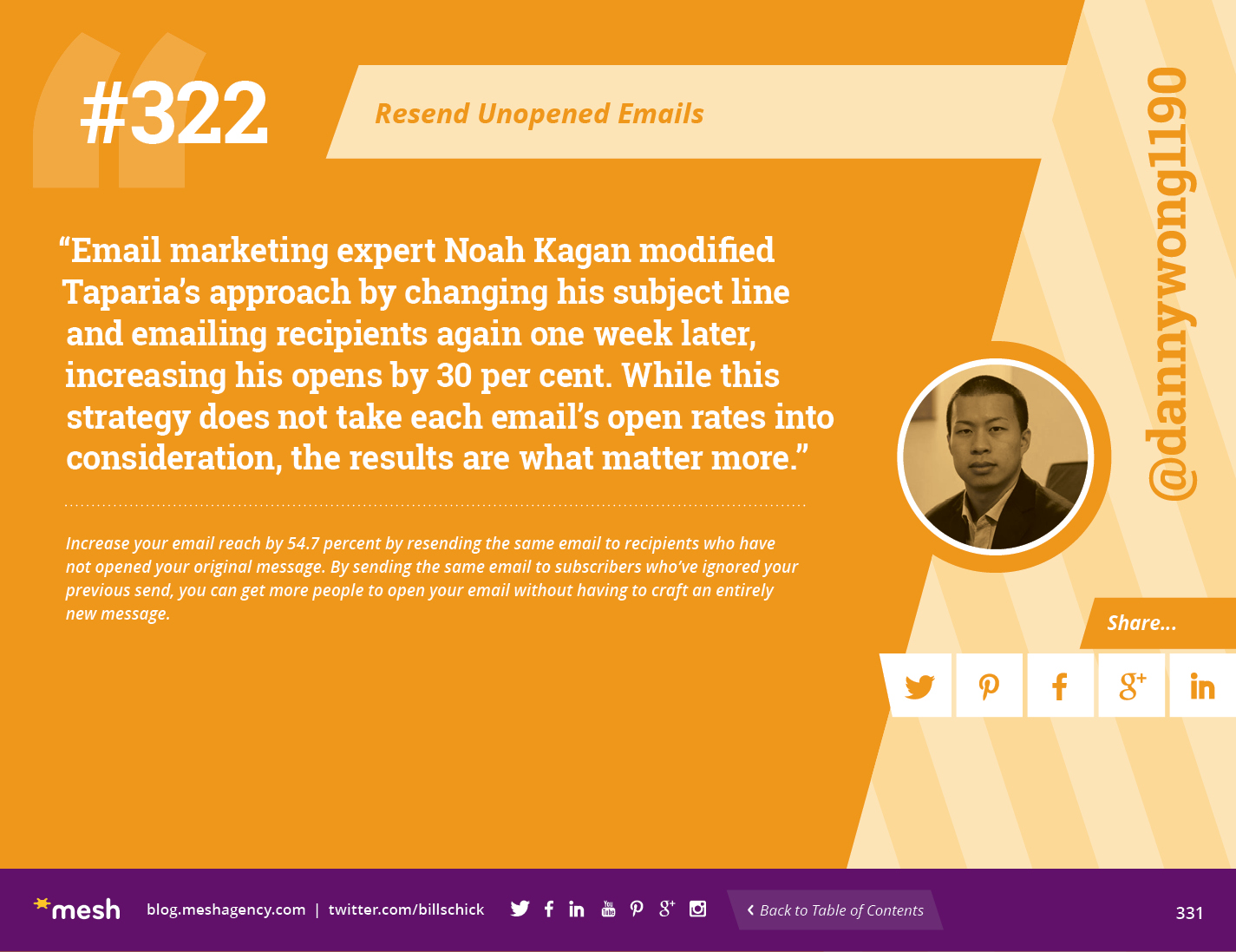 #322: Resend Unopened Emails via @meshagency #365EmailTips
