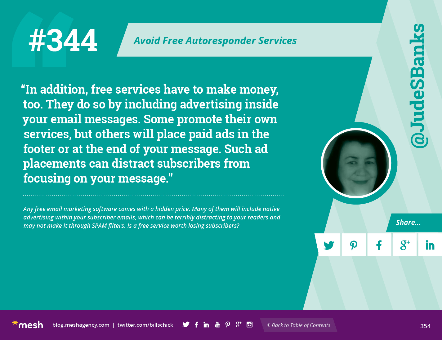 #344: Avoid Free Autoresponder Services via @meshagency #365EmailTips