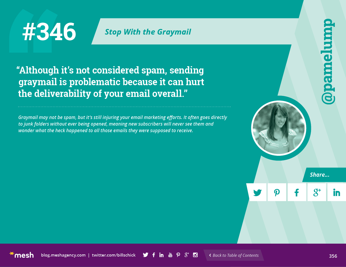 #346: Stop With the Graymail via @meshagency #365EmailTips