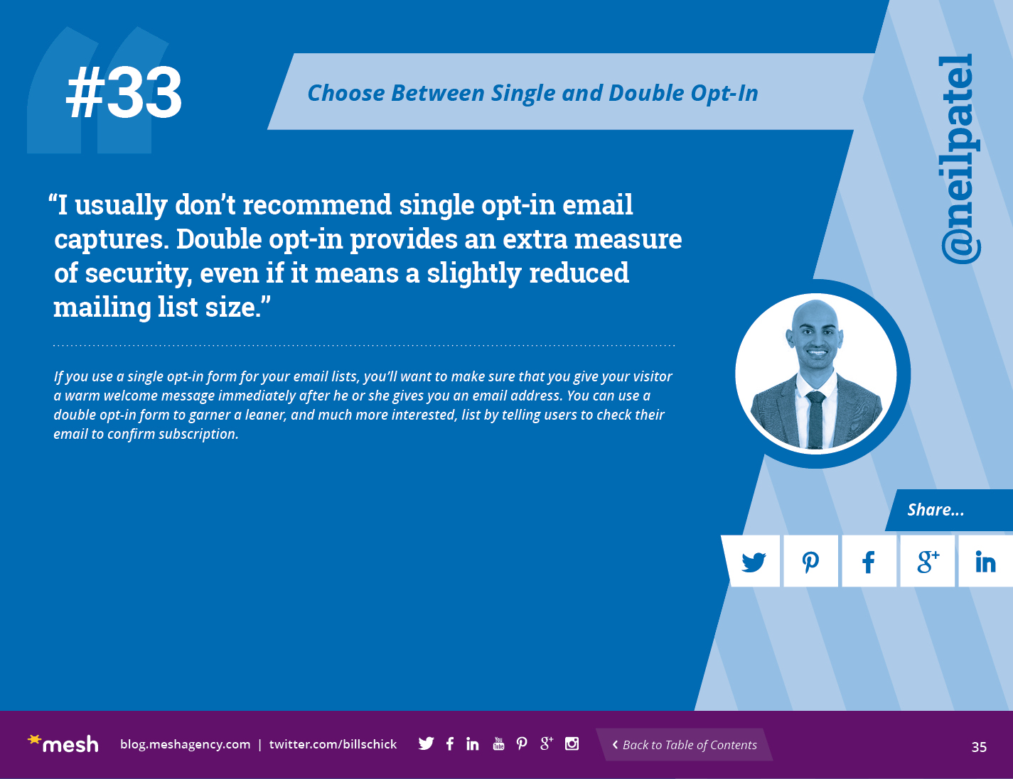 #33: Choose Between Single and Double Opt-In via @meshagency #365EmailTips