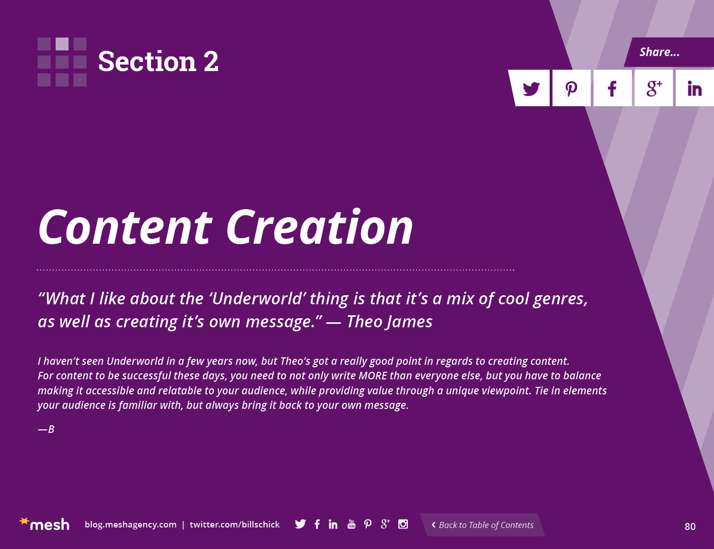 Section 2: Content Creation via @meshagency #365EmailTips