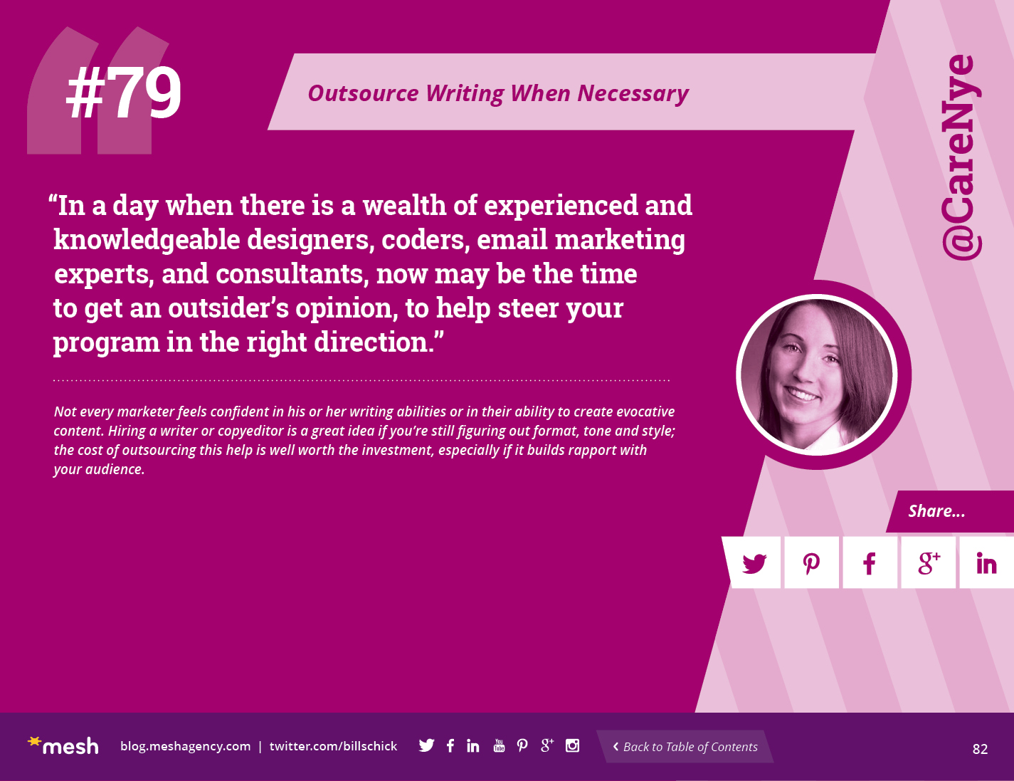 #79: Outsource Writing When Necessary via @meshagency #365EmailTips