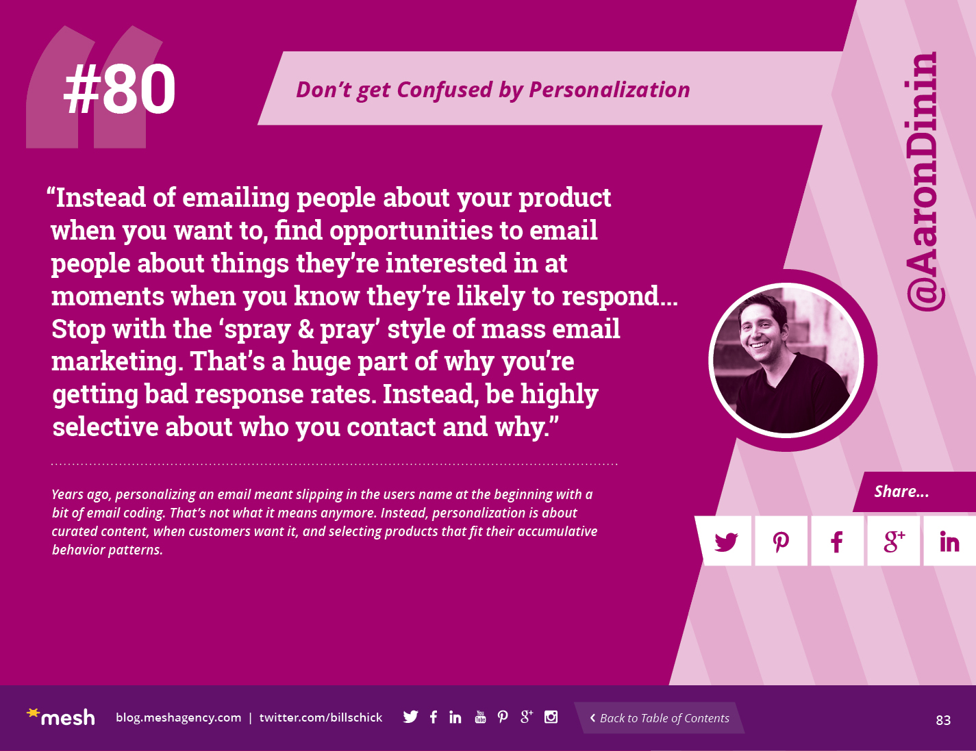 #80: Don't get Confused by Personalization via @meshagency #365EmailTips