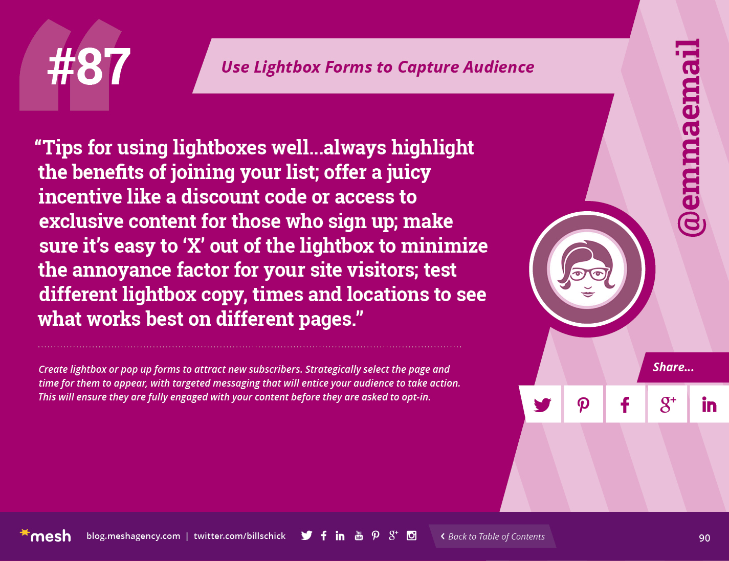 #87: Use Lightbox Forms to Capture Audience via @meshagency #365EmailTips
