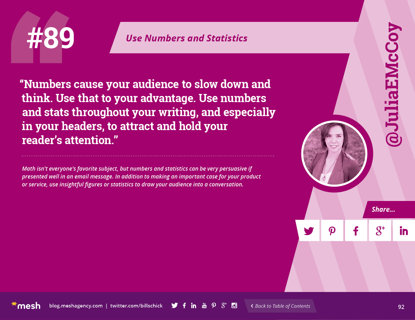 #89: Use Numbers and Statistics via @meshagency #365EmailTips