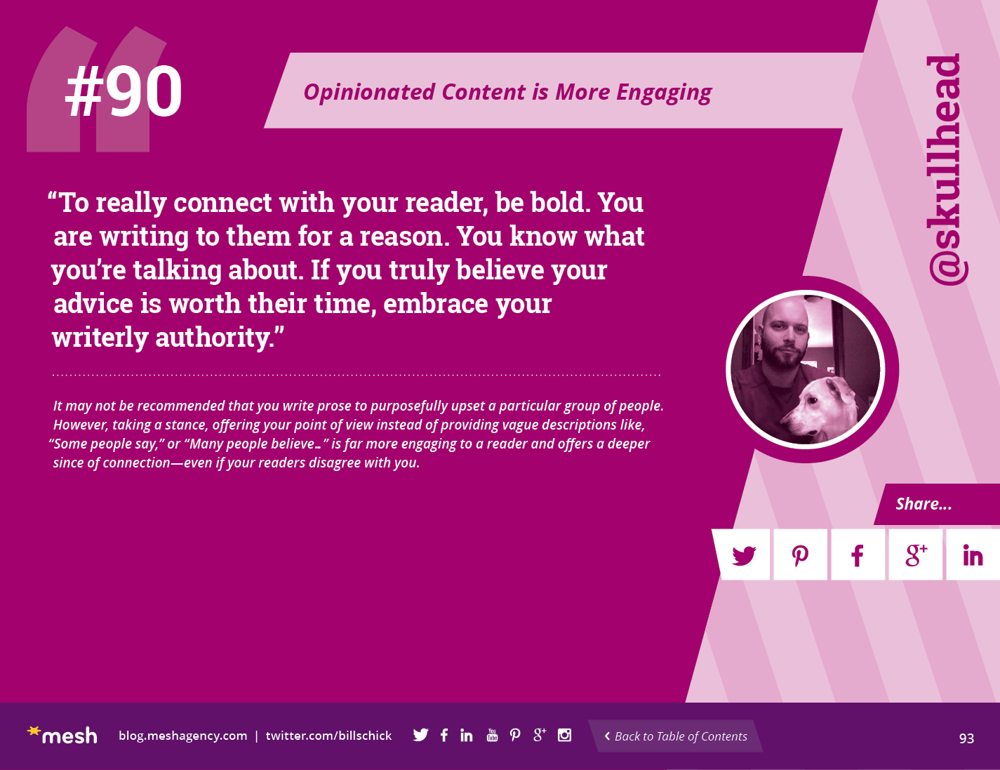 #90: Opinionated Content is More Engaging via @meshagency #365EmailTips