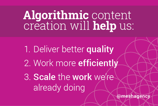 Algorithmic Content Marketing and Creation Advantages