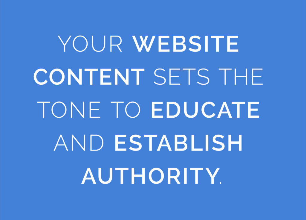 Your website content sets the tone to educate and establish authority - Mobile