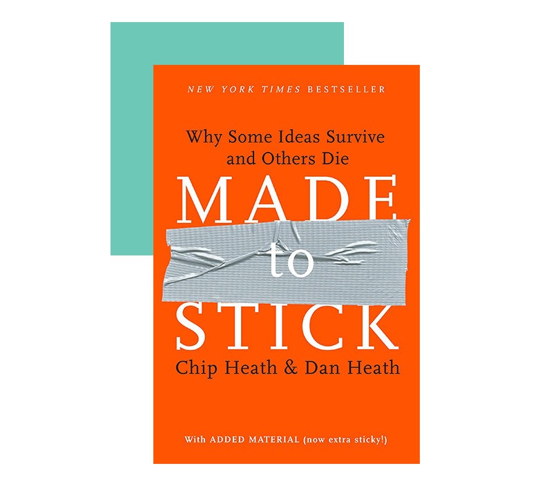 Tips for effective marketing messages in Made To Stick by Chip and Dan Heath