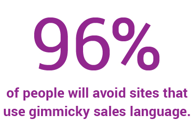 Website statistic about sales language